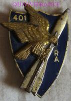 IN18487 - Insigne 401° Régiment d'Artillerie (Antiaérienne) homologation à droit
