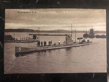 1916  Germany RPPC Postcard cover WWI Kriegsmarine U Boot U5 Marine Field post