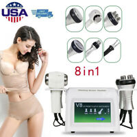8in1 Ultrasonic Cavitation Radio Frequency Vacuum Body Slim Skin Care Machine A+