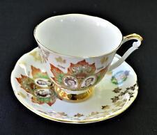 QUEEN ANNE Royal Visit Canada Queen Elizabeth & Prince Phillip Cup & Saucer#5825