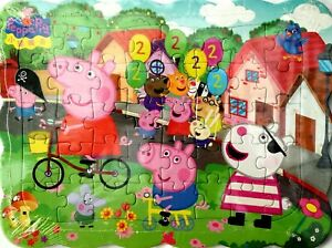 Peppa Pig Family 40-Piece Drawing Jigsaw Puzzle Best Gift for Kids -02