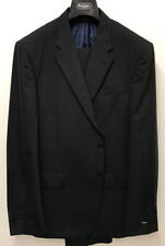 Completi e abiti sartoriali da uomo neri regolare a righe
