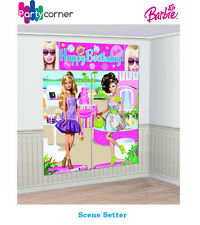 BARBIE PARTY SUPPLIES SCENE SETTER 5 PC DECORATING KIT PARTY DECORATIONS