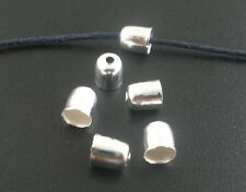 450 Cord End/tip Silver Tone Glue-in Style 6x5mm Fit 4mm