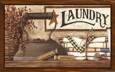 (Laundry Room Display) WALL DECOR, DISTRESSED,PRIMITIVE,HARD WOOD, SIGN, PLAQUE