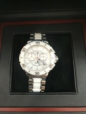 LADIES TAG HEUER FORMULA 1 CERAMIC AND DIAMOND WATCH WITH BOX & PAPERS