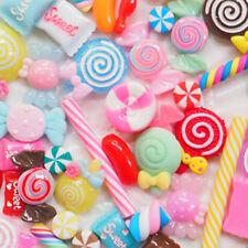 30x DIY Scrapbooking Phone Case Decor Crafts Miniature Fake Resin Lollipop Candy