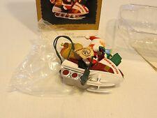 Santa's snow getter mobile flickering light magic Hallmark Keepsake Ornament