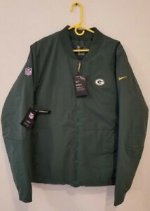 GREEN BAY PACKERS Nike Shield Sideline Bomber Full-Zip Jacket - MENS XL