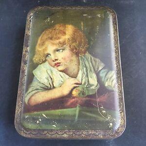 Vintage Advertising Biscuit Biscuits Tin 3 British Queens Cadbury Bournville