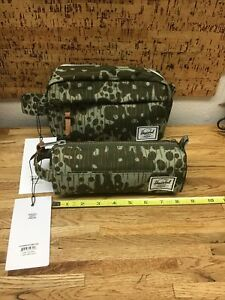 Herschel Supply Co Chapter Carry On / Settlement Green Pea Camo New PP-6