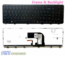 New HP Envy DV6-7000 DV6-7100 DV6T-7000 Series backlit Keyboard Black w/ frame