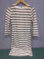 Alice + Olivia, Striped White/grey Shimmering Sequin Dress, Sz 6  MSRP $440 NWT