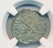 1572 Poland Livonia 1 Shilling Rare NGC MS61 Grade Silver Coin