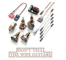 EMG Solderless Conversion Wiring Kit 1 - 2 Pickups PPP Push/Pull LONG SHAFT POTS
