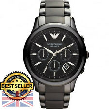 *BRAND NEW*  Emporio Armani AR1452 Black Ceramic/Matte Men's Watch - RRP £399.00
