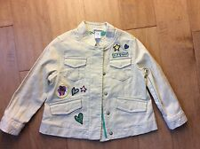 DVF Baby Gap Little Girls Khaki Denim Safari Jacket Size 4 EUC