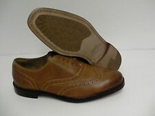 Polo Ralph Lauren Damoin casual dressing leather shoes brown tan size 8 D n