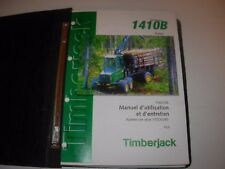 Timberjack 1410B Forwarder Operator & Maintenance Manual , French Edition