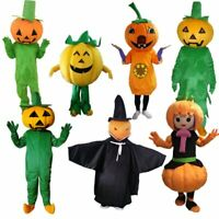 Halloween Pumpkin Mascot Costume Suits Dress Cosplay Carnival Party Game Adults