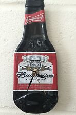 2 x Budweiser beer bottle clock special offer