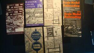 Lot of (8) Vintage Rare - Lionel - HO - Model Train Layout Booklets 1950's