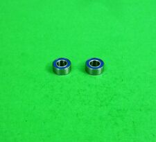Blue sealed ball bearings 4x8x3mm for HPI Tamiya Yokomo1:10 RC etc - lot of 2