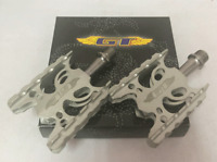 GT Wings BMX Bicycle Bike Alloy Pedals 9/16 Flat-Platform NOS Silver