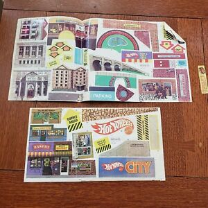 1980 Hot Wheels Car Sto N Go Playset City Set #3324 Decals Stickers