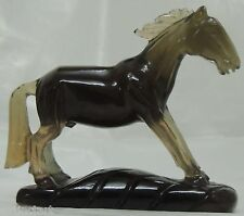 Gemstone Semiprecious Fluorite Horse Decorative sculpture Figurine