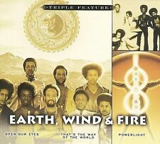 "EARTH WIND & FIRE new unopened 3 CD set ""Open Our Eyes"" ""That's"" ""Powerlight"""