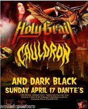 HOLY GRAIL/CAULDRON 2011 PORTLAND CONCERT TOUR POSTER