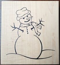 Make An Impression Snowman Rubber Stamp Sharon Stearnes Snow Man Christmas Lg