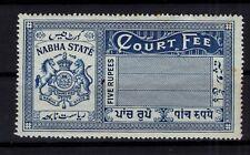 BP87890/ INDIA / NABHA / PRINCELY STATE / COURT FEE / 5 RUPEES MH