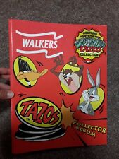 Walkers Tazos Collector Album, Red Case, Looney Tunes, Incomplete, FREE P&P!!!