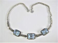 Antikes Collier Silber 800 mit Blautopasen, 21,74 g