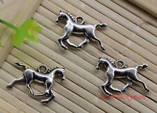6 pieces New GALLOPING HORSE Charm, Tibetan Silver Alloy 21 x 15 mm Free Ship!