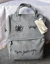 Ikks gris sac à dos sac a bandouliere drôle open your eyes sac cottontote sac