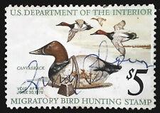 US Duck Stamp 1975 $5 Canvasback Scott # RW42 Used