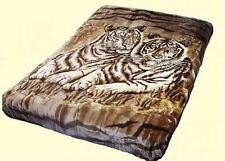Vivalon Brown White Tiger Korean Style Mink King Size Luxury Blanket By Solaron