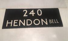 """London Linen Bus Blind Jan78 36""""- 240 Hendon Bell"""