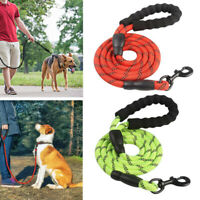 Large Dog Leash Reflective Nylon Rope Heavy Duty Training Walking Lead Strap