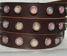 Pink Druzy Dog Collar handmade, eco-friendly, upcycled leather by  Dogtown