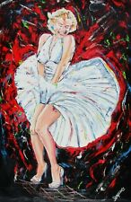 Marilyn Monroe Oil Painting Rat Pack ICON Dress Kennedy Movie Stars