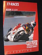 Flyer NS (Nederlandse Spoorwegen) TT Motorraces Assen 30 juni 1990  (TTC)