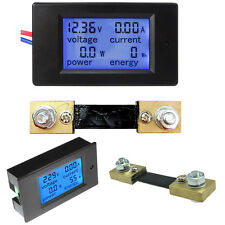0-100A LCD Digital Volt Watt Current Power Meter Ammeter Voltmeter Meter+Shunt