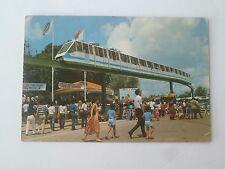 Original Old  Postcard - 80' Singapore Mono Railway Train in Sentosa (P124)