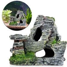 Aquarium Rockery Hiding Rock Cave Decor Underwater Landscape Mountain Ornament