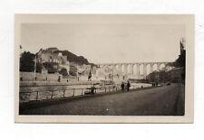 PHOTO N&B - Snapshot Vintage - MORLAIX 1933 - Pont Quai Ville