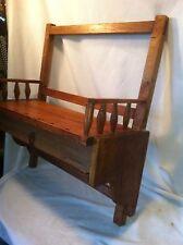 Vintage Tramp Art Wood shelf with drawer